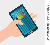 stock exchange design  vector... | Shutterstock .eps vector #444334033