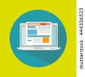 computer technology design ... | Shutterstock .eps vector #444336523