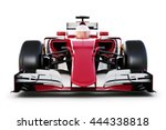 race car and driver front view... | Shutterstock . vector #444338818