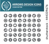arrow sign icon set vector | Shutterstock .eps vector #444339676