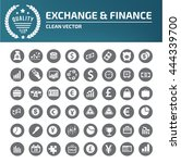 financial money icon set vector | Shutterstock .eps vector #444339700