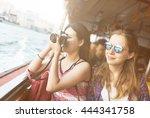 girls friendship hangout... | Shutterstock . vector #444341758