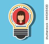 person inside bulb design ... | Shutterstock .eps vector #444345430