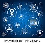 data security  network security ...   Shutterstock .eps vector #444353248