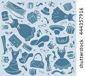 women things vector symbols | Shutterstock .eps vector #444357916