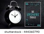 black alarm clock isolated on... | Shutterstock . vector #444360790