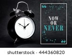 black alarm clock isolated on... | Shutterstock . vector #444360820