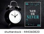 black alarm clock isolated on... | Shutterstock . vector #444360820
