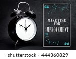black alarm clock isolated on... | Shutterstock . vector #444360829