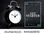 black alarm clock isolated on... | Shutterstock . vector #444360850