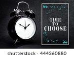 black alarm clock isolated on... | Shutterstock . vector #444360880