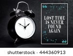black alarm clock isolated on... | Shutterstock . vector #444360913
