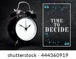 black alarm clock isolated on... | Shutterstock . vector #444360919
