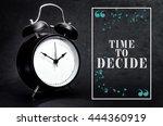 black alarm clock isolated on... | Shutterstock . vector #444360919