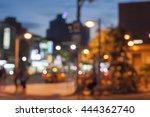 blurred street view of taipei ... | Shutterstock . vector #444362740