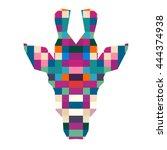 Animal Head Giraffe Triangular...