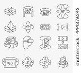 360 degrees rotation concept...   Shutterstock .eps vector #444376243