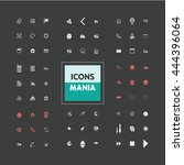 icons set of ready made on... | Shutterstock .eps vector #444396064