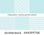 collection of seamless... | Shutterstock .eps vector #444399748