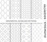 ornamental seamless patterns. 8 ...   Shutterstock .eps vector #444399799
