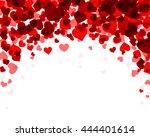 romantic valentine background... | Shutterstock .eps vector #444401614