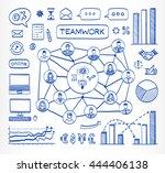 business doodle concept. vector ...   Shutterstock .eps vector #444406138