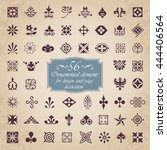 56 ornamental elements for... | Shutterstock .eps vector #444406564