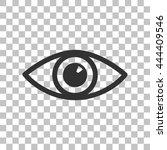 eye sign illustration. dark... | Shutterstock .eps vector #444409546