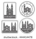 bosnia and herzegovina. rubber... | Shutterstock .eps vector #444414478