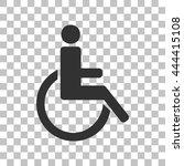disabled sign illustration.... | Shutterstock .eps vector #444415108