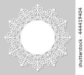 decorative vintage frame.... | Shutterstock .eps vector #444419404