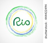 rio 2016 olympic games banner... | Shutterstock .eps vector #444422494