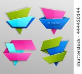 abstract vector banners set | Shutterstock .eps vector #444430144