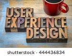 user experience design   word... | Shutterstock . vector #444436834
