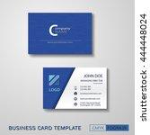 vcard business card set blue....   Shutterstock .eps vector #444448024
