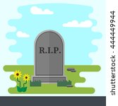 Illustration Of Gravestone On...