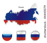 fully editable flag of russia... | Shutterstock .eps vector #44445079