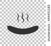 sausage simple sign. dark gray...