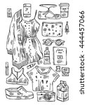 hand drawn vector illustration... | Shutterstock .eps vector #444457066