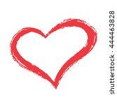 vector grunge red heart shape | Shutterstock .eps vector #444463828