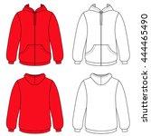 hoodie sweater  front   back... | Shutterstock .eps vector #444465490