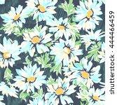 pretty daisy print   seamless... | Shutterstock .eps vector #444466459