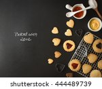 black bakery text space images... | Shutterstock . vector #444489739