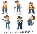 vector illustration of a six... | Shutterstock .eps vector #444500818
