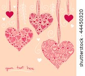 heart decoration | Shutterstock .eps vector #44450320