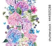 summer watercolor vintage...   Shutterstock . vector #444505288