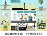 airport business info graphics... | Shutterstock .eps vector #444508696