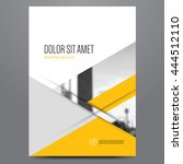 geometric business brochure ... | Shutterstock .eps vector #444512110