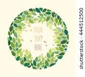 decorative floral frame.... | Shutterstock .eps vector #444512500
