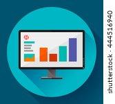 computer monitor display wide... | Shutterstock .eps vector #444516940